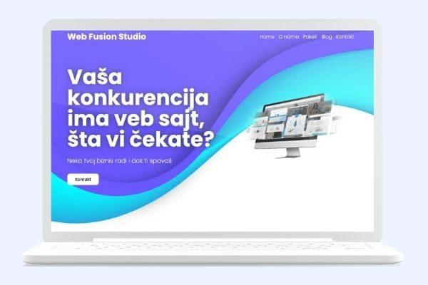 Projekat web fusion studio